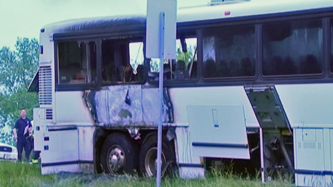 Bus Filled With Kids Catches Fire On Way to Six Flags