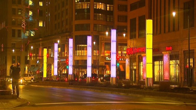 Congress Parkway Lighted Streetscape Debuts