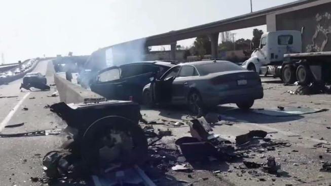 Driver Dies Following Fiery Tesla Model X Crash On Calif Hwy Nbc