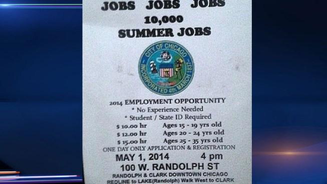 City Warns of Fake Summer Jobs Flyer