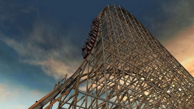 Reporter Rides Six Flags' New Goliath Roller Coaster