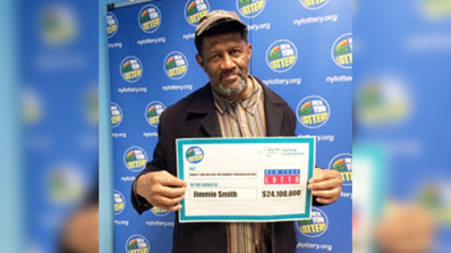$24 million lottery victor  claims prize in the nick of time