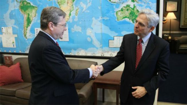 Sen. Mark Kirk Meets with SCOTUS Nominee Merrick Garland