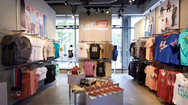 Lollapalooza Pop-Up Shop Opens Friday in Downtown Chicago