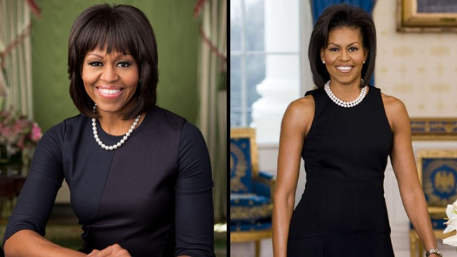 Michelle Obama Gets a New Official Portrait – with Bangs
