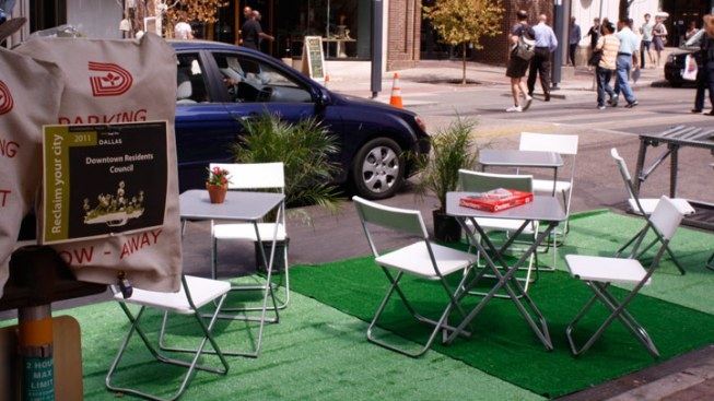 Did You Park? Greenspace Lovers Take Over Metered Spots