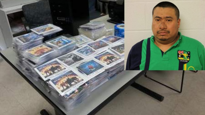 Man Accused of Bootlegging Hundreds of DVDs