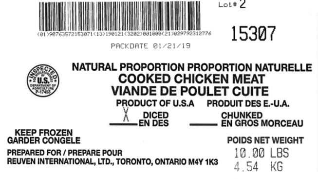 Positive Listeria Sample Prompts Tip Top Poultry Recall of Over 135K Lbs. of Frozen Chicken