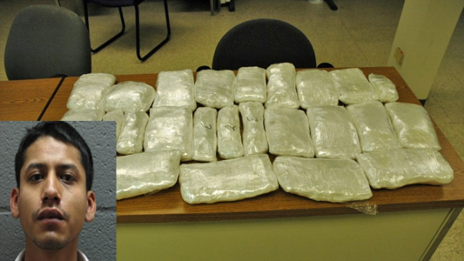 Driver Allegedly Caught With 25 Pounds of Meth