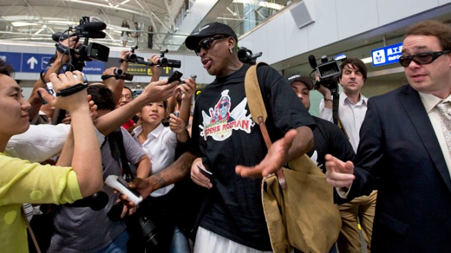Dennis Rodman Arrives in Beijing After North Korea Visit