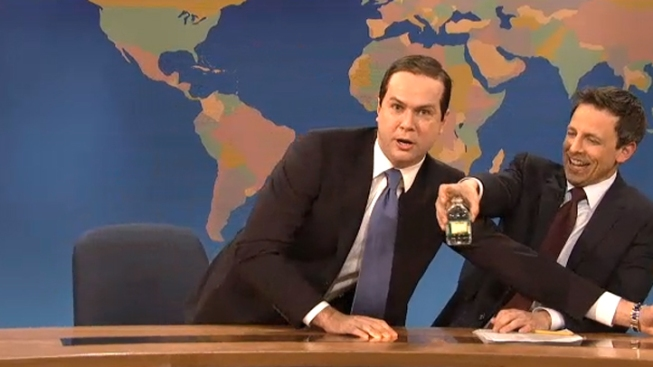 "WATCH: Thirsty ""Marco Rubio"" Has Another Drink on ""SNL"""