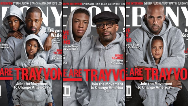 """Ebony Unveils """"We Are Trayvon"""" Covers Featuring Spike Lee, Dwyane Wade"""