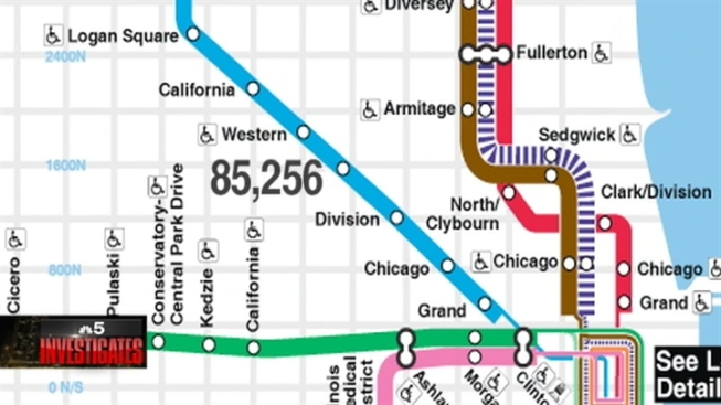 Cta Map Loop CTA Maps An Alluring Target For Thieves   NBC Chicago Cta Map Loop