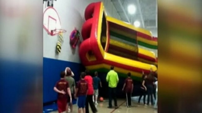 17 Kids Injured When Inflatable Slide Tips Over At Algonquin School