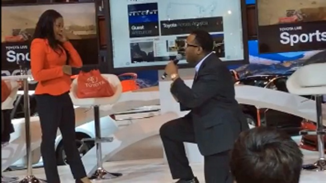 Couple Gets Engaged at Chicago Auto Show