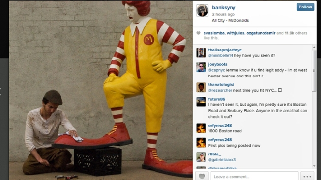 New Banksy Work in NYC: Sculpture of Ronald McDonald