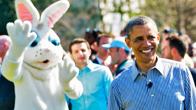 Pendleton Brother Plays Tennis with Obama at Easter Egg Roll