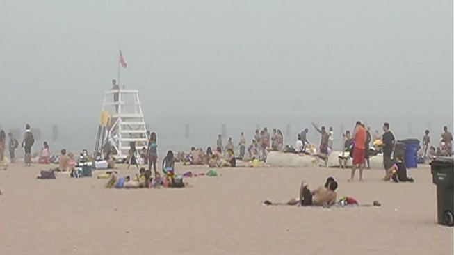 Fog Forces Swim Ban at Chicago Beaches