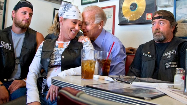 Joe Biden Buddies Up With Ohio Bikers