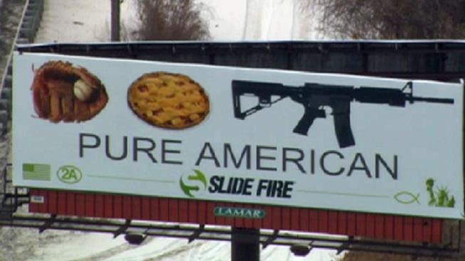Moms Group Denounces Assault Rifle Billboard