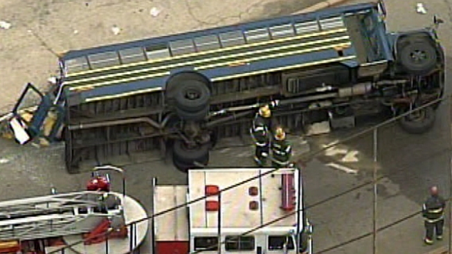 Two Injured in South Side Bus Crash
