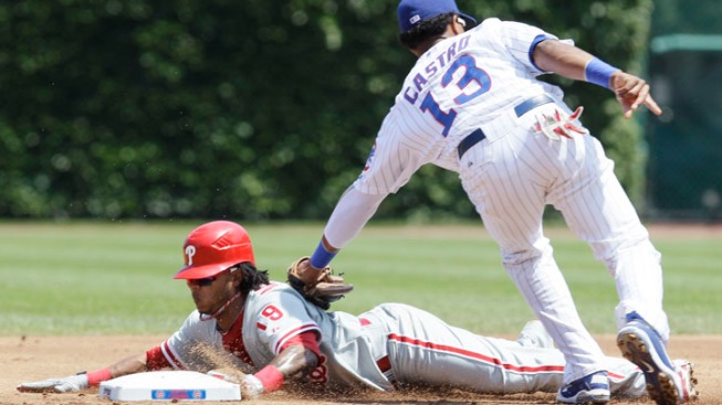 Cubs Dominated by Worley, Rollins in 9-1 Loss to Phillies