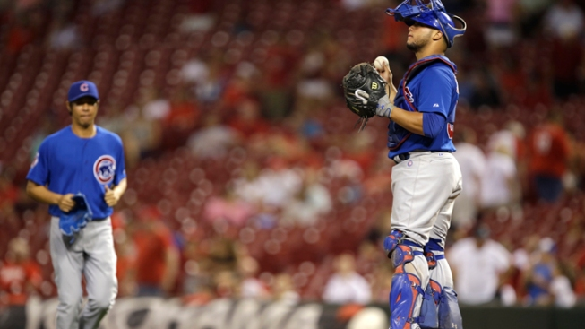Castillo Homers Twice as Cubs Rout Reds