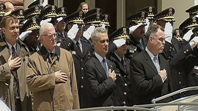Emanuel Pays Respect to Fallen Officer