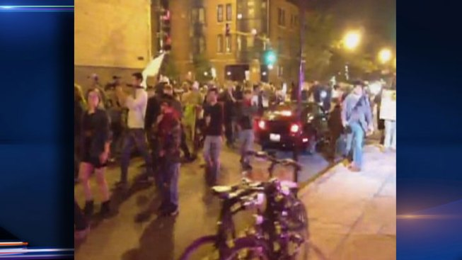 Demonstrators March on Lincoln Park, Lakeview