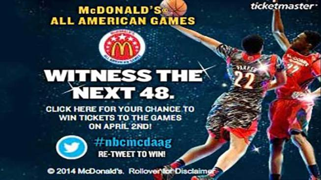 Win Tickets to McDonald's All American Game