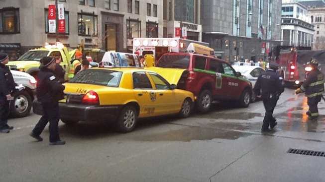 Three Injured in Chain Reaction Crash on Mag Mile