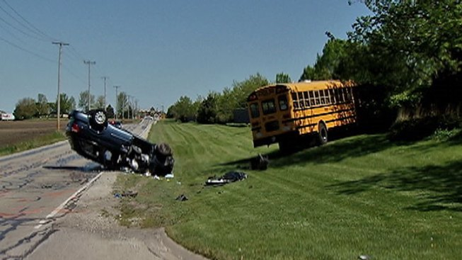 School Bus, Car Collide in Naperville