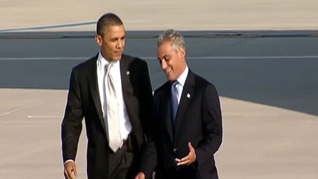 Rahm Welcomes Obama to His Chicago