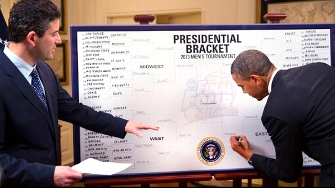 Are Politics Behind Obama's NCAA Bracket?
