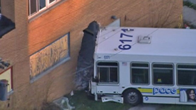 24 Injured When Pace Bus Hits Building