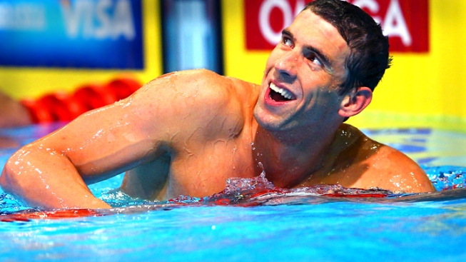 Phelps Drops 200 Free, Bid for 8 Golds in London