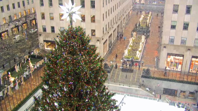 WATCH: Snow Falling on Rockefeller Tree