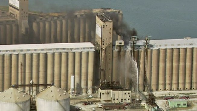 No Injuries in Silo Fire at Port of Chicago