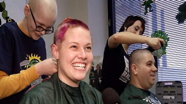 Volunteers Shave Heads to Promote Cancer Research