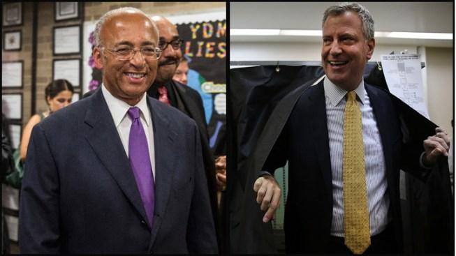 De Blasio Leads Democrats, May End Up in Runoff to Face GOP Winner Joe Lhota for NYC Mayor