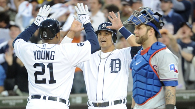 Tigers Stay Alive, Hold Off Rangers 7-5