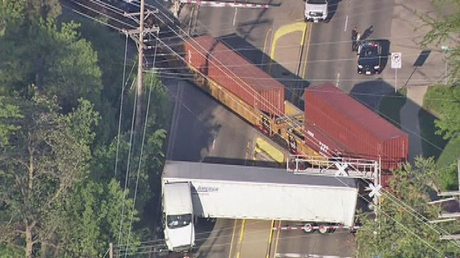 Train Collides With Semi, Causes Major Backups