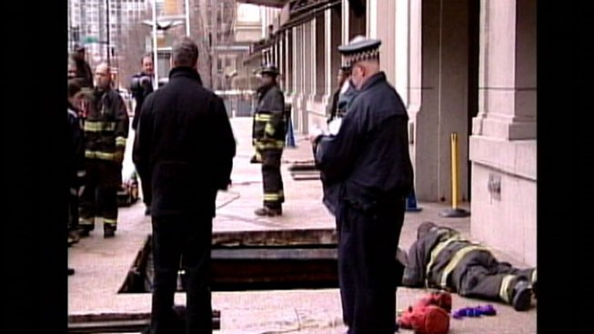 Lift Operator Hurt in Sidewalk Collapse
