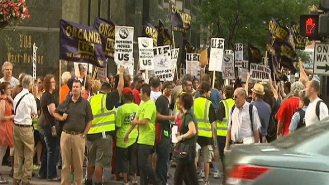 Union Workers March for More Jobs, Better Wages