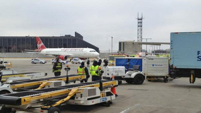 Plane's Wing Clips Fence at O'Hare