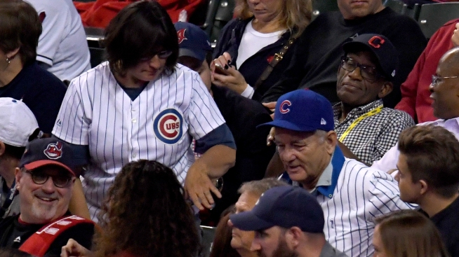 Bill Murray Makes Lucky Fan's Dream Come True at Game 6