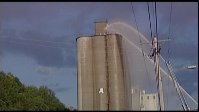 Three men cleaning a ConAgra grain pellet storage bin in Chester, Ill., were injured in a 2010 explosion. Phil Rogers reports.