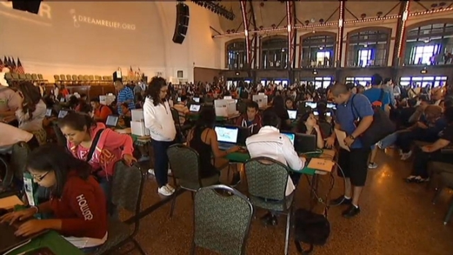 Dream Relief workshops help children who were illegally brought into the United States apply for a work permit and even a driver's license. Anthony Ponce reports on Wednesday's event.