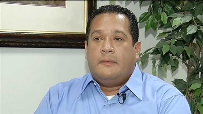 Officer Anthony Hernandez says his supervisor falsified time records and was demoted when he brought up the issue. Phil Rogers reports.