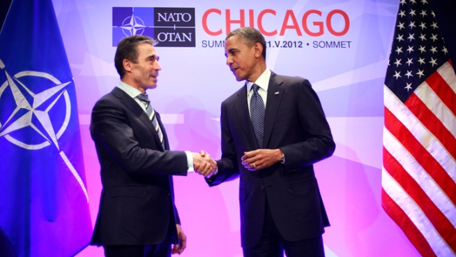 President Obama welcomes NATO Secretary General Anders Fogh Rasmussen to Chicago.